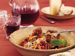 pasta with saffron sausage sauce recipe nancy harmon jenkins