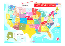 50 State Map 50 State Map Magnet Set Classicmagnetscom Artwood Magnets