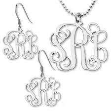 Custom Monogram Necklace Personalized Monogram Necklace