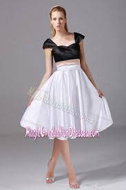 middle school graduation dresses white and black knee length graduation dress for middle school in