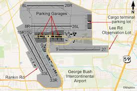 map houston airports map of george bush intercontinental airport houston my