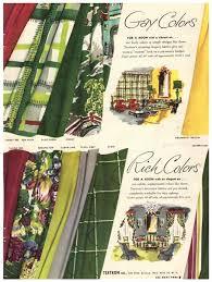 Vintage Drapery Fabric Vintage 1949 Textron Curtain Fabric Magazine Print Ad 1940s
