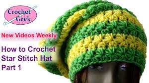 crochet pattern using star stitch how to make crochet star stitch hat tutorial youtube