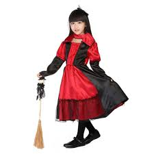 aliexpress com buy kids witch costume black and red gothic queen