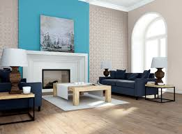 the design of turquoise walls behind the fireplace interior