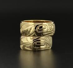 Native American Wedding Rings by 14k Gold Matching Yin Yang Wedding Bands Northwest Native