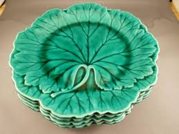 wedgewood cabbage leaf plates glass dishes for dairy