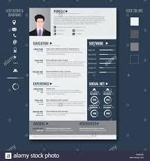 Minimalist Resume Vector Creative Minimalist Cv Resume Template With Photo Frame And