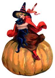 vintage witch wallpaper vintage halloween image adorable witch with pumpkin the