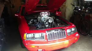 1989 Ford Thunderbird Ford Thunderbird Drag Car Startup U0026 Rev Youtube