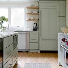 kitchens with shelves green green kitchen walls design ideas