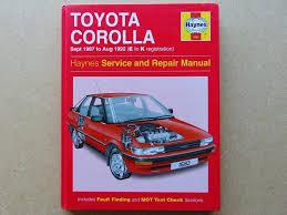 toyota corolla haynes manual petrol 1 3 litre u0026 1 6 litre sept