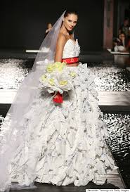 this wedding dress is made of mcdonald u0027s wrappers