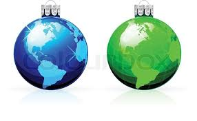 globe balls baubles with world map stock