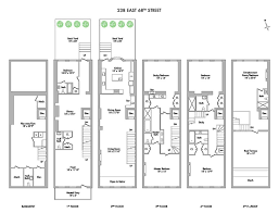 single family floor plans 238 east 68 single family townhouse h justin h justin