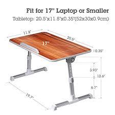 Adjustable Laptop Desk Avantree Quality Adjustable Laptop Table Portable Standing Bed