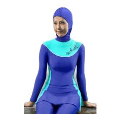 lazy cat full cover modest muslim swimsuit islamic clothing for