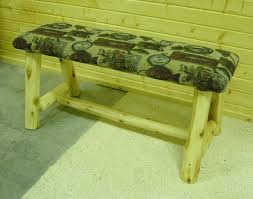 Rustic Log Benches - log artistry log dining room benches