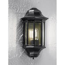 black exterior wall lights la1610 1 boulevard 1 light black exterior wall light