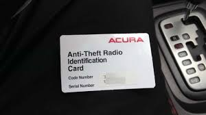 how to reset acura anti theft radio u0026 retrieve serial number code