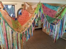 Bohemian Bed Canopy Boho Tent Canopy Teepee Vintage Textiles Hippie
