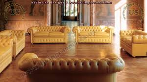 leather chesterfield sofa yellow leather interior design