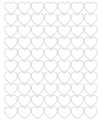 printable heart shapes tiny small u0026 medium outlines what