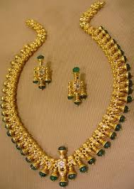 emerald gold necklace images 9 indian gold and diamond emerald necklace set designs jpg