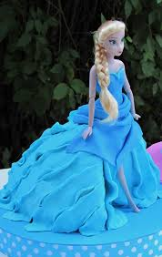 elsa and anna the top of the dress is made of dough to cover cakes