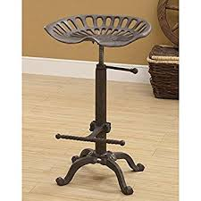 rustic industrial bar stools amazon com rustic industrial farmhouse tractor seat adjustable
