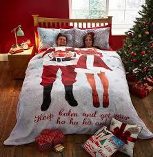 christmas hers catherine lansfield selfie santa duvet cover his hers bedding