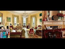 White House Interior Design Obama Reveals Private Living Areas Of White House Youtube