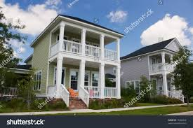 Row Houses by Two Classical Design Modern Two Story Stock Photo 15408424