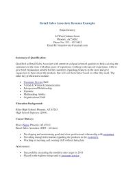 Vbscript Resume Sample Sales Associate Resume Resume For Your Job Application