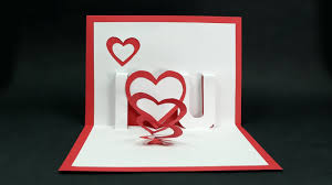 handmade valentine u0027s day card diy u0027i love you u0027 pop up heart love