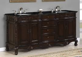 72 inch sink bath vanity cabinet with brown granite top