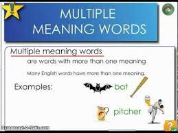multiple meaning words lessons tes teach
