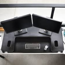 Standing Desk For Cubicle Cubicle Standing Desk Cube Plus Series Varidesk Adjustable