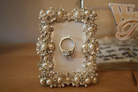Wedding Ring Holder by Diy Picture Frame Wedding Ring Holder