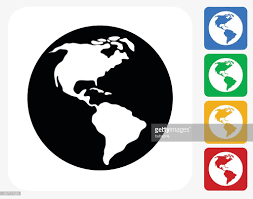 World Map Silhouette World Map Icon Flat Graphic Design Vector Art Getty Images