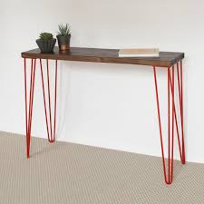 hairpin leg console table romy hairpin console table eco furniture reclaimed wood la