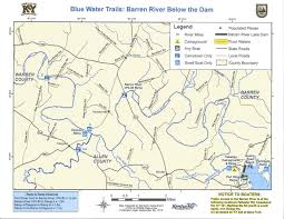 map kentucky lakes rivers kentucky department of fish wildlife barren river below the dam