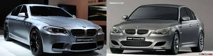 bmw m5 slammed photo comparison bmw e60 m5 concept vs f10 m5 concept
