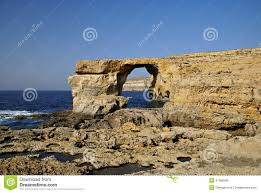 azure window colapse the azure window in gozo island stock photo image 47099266