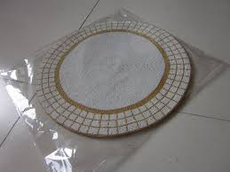 gold table runner and placemats round gold and white handmade beaded placemat set glass beads table
