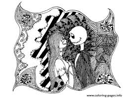 halloween nightmare christmas coloring pages