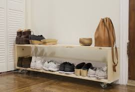 shoe rack entryway small space diy a perfect shoe rack for a narrow entryway the