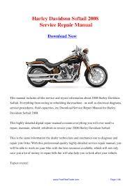 28 99 softail owner manual 100079 hd softail 2006 2007 bike