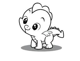 real pony coloring pages cute printable coloring pages young spike the dragon my little pony