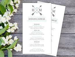 ceremony cards for weddings boho wedding itineraries 25 wedding schedule cards